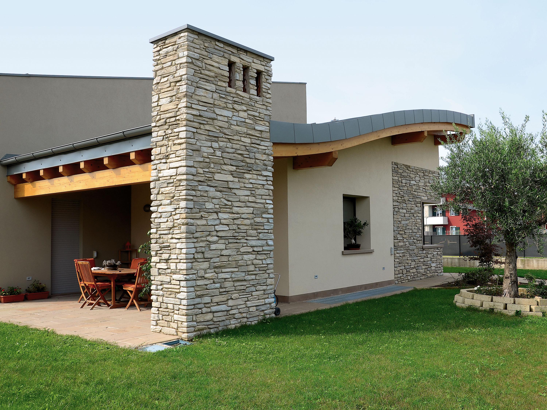 Realizzazioni in pietra ricostruita per interni ed esterni - Pietra da rivestimento esterno ...