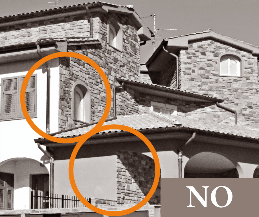 11 regole di posa geopietra for Materiali da costruzione della casa