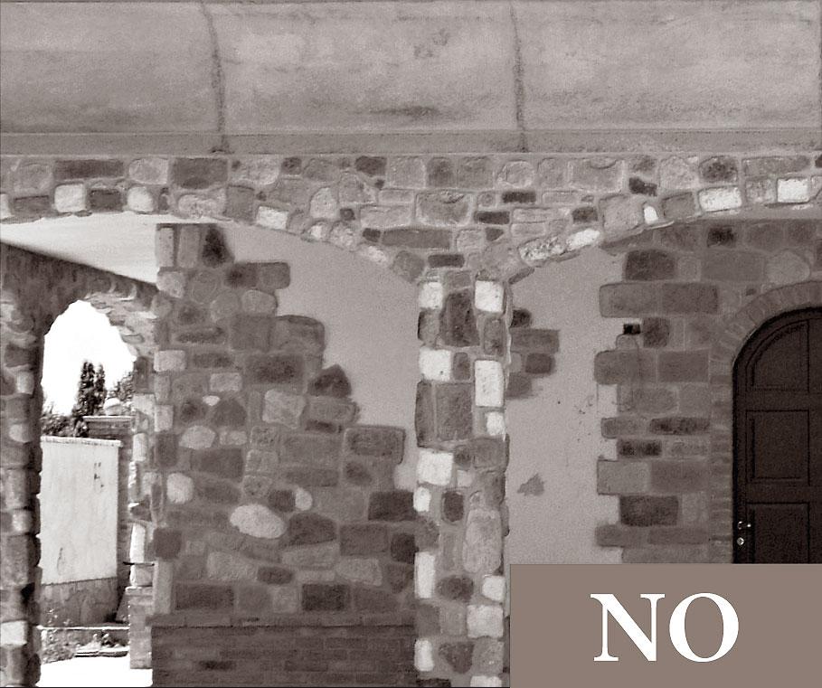 11 regole di posa geopietra for Foto di portici in pietra