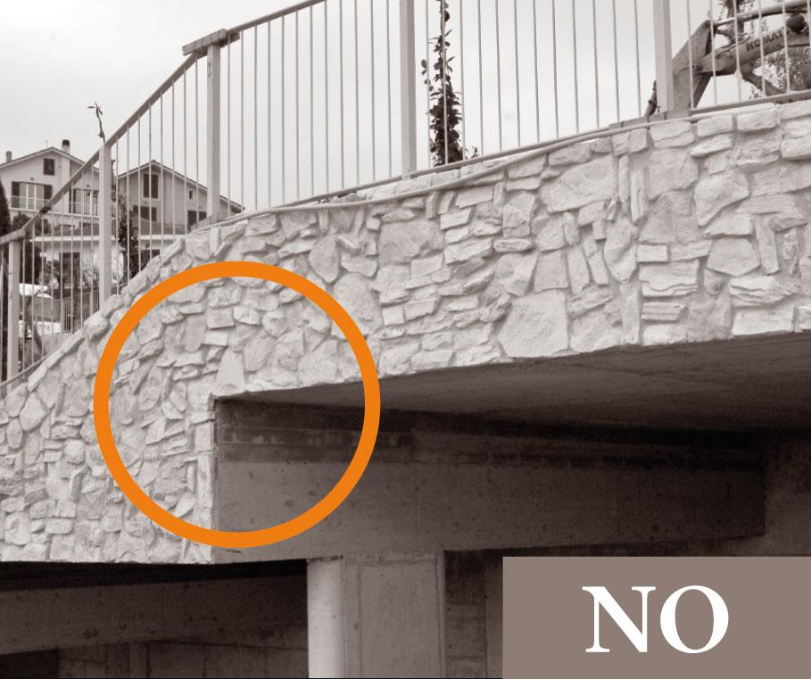 11 regole di posa geopietra for Cabina del tetto ad arco