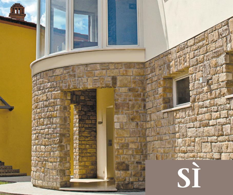 11 regole di posa geopietra for Facciate di case in mattoni e pietra